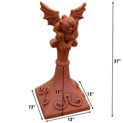 Double hip gargoyle roof finial measurements