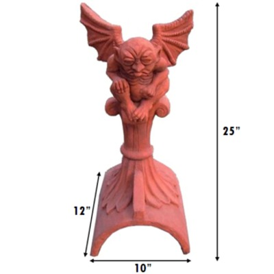 Half round gargoyle roof finial measurements