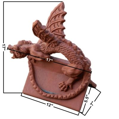 baby roof dragon art finial measurements
