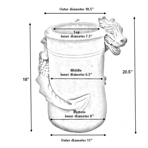 dragon chimney pot screech measurements