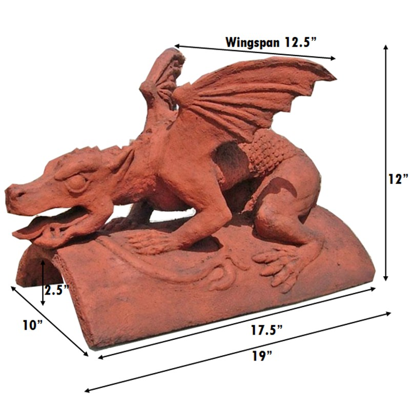 gothic dragon finial measurements