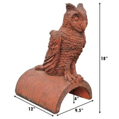 owl roof finial measurements