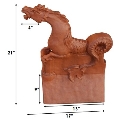 poseidon horse roof finial measurements